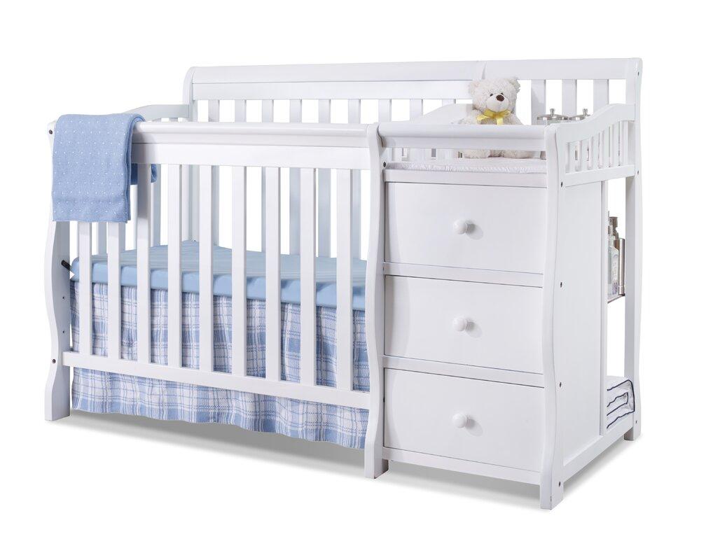 Sorelle Newport 2 In 1 Convertible Mini Crib And Changer