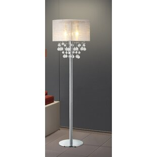 Stacked glass ball floor lamp wayfair lefferts 61 modern chrome led standard floor lamp with bubbles glass balls mozeypictures Image collections