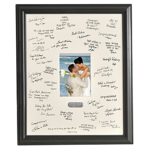 Personalized Gift Wedding Wishes Signature Picture Frame