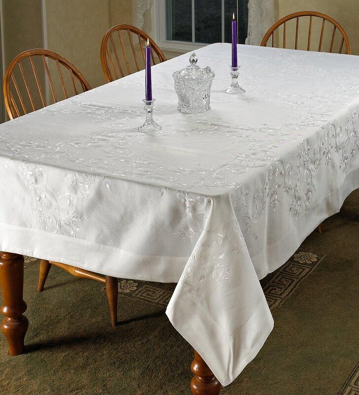 Lisbon Embroidered Vintage Tablecloth