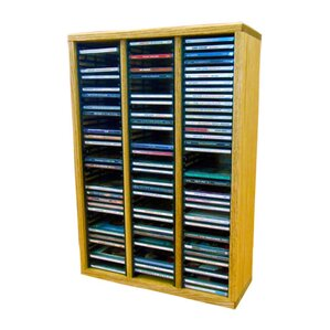 Wood Shed Multimedia Storage Rack Image