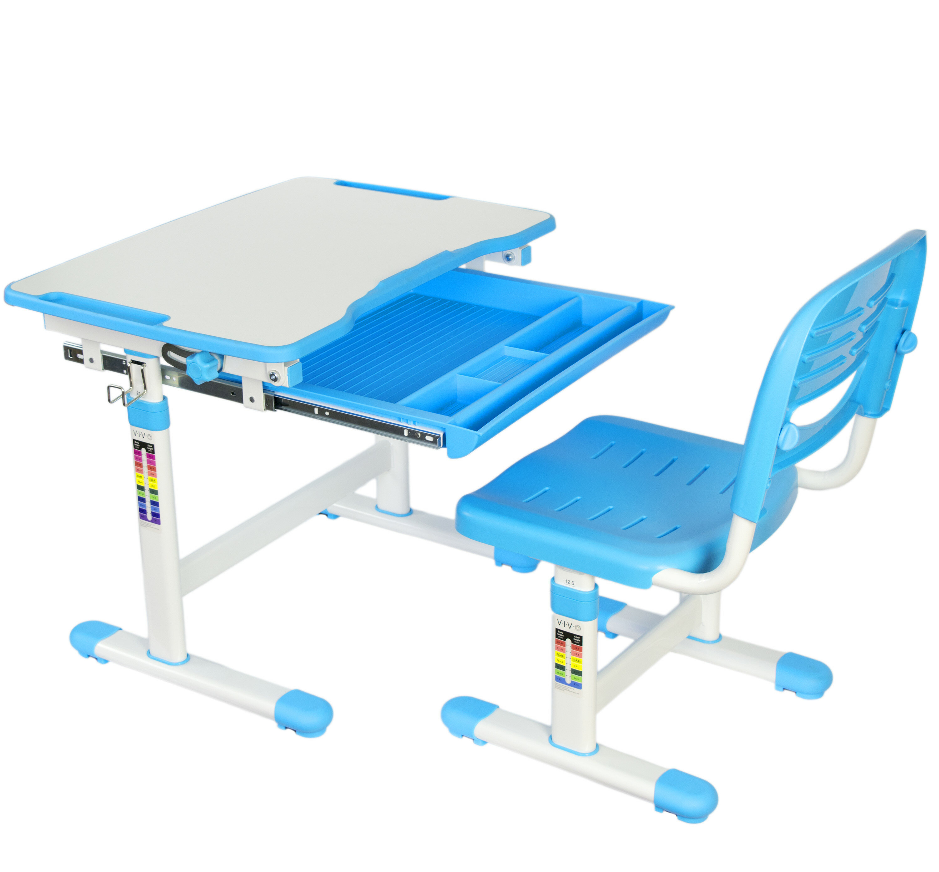 VIvo Vivo Height Adjustable Children\'s Desk with Chair & Reviews ...