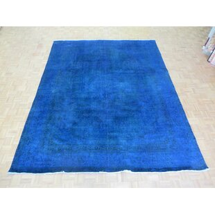 One Of A Kind Beason Over Dyed Royal Persian Hand Knotted Wool Blue Area Rug
