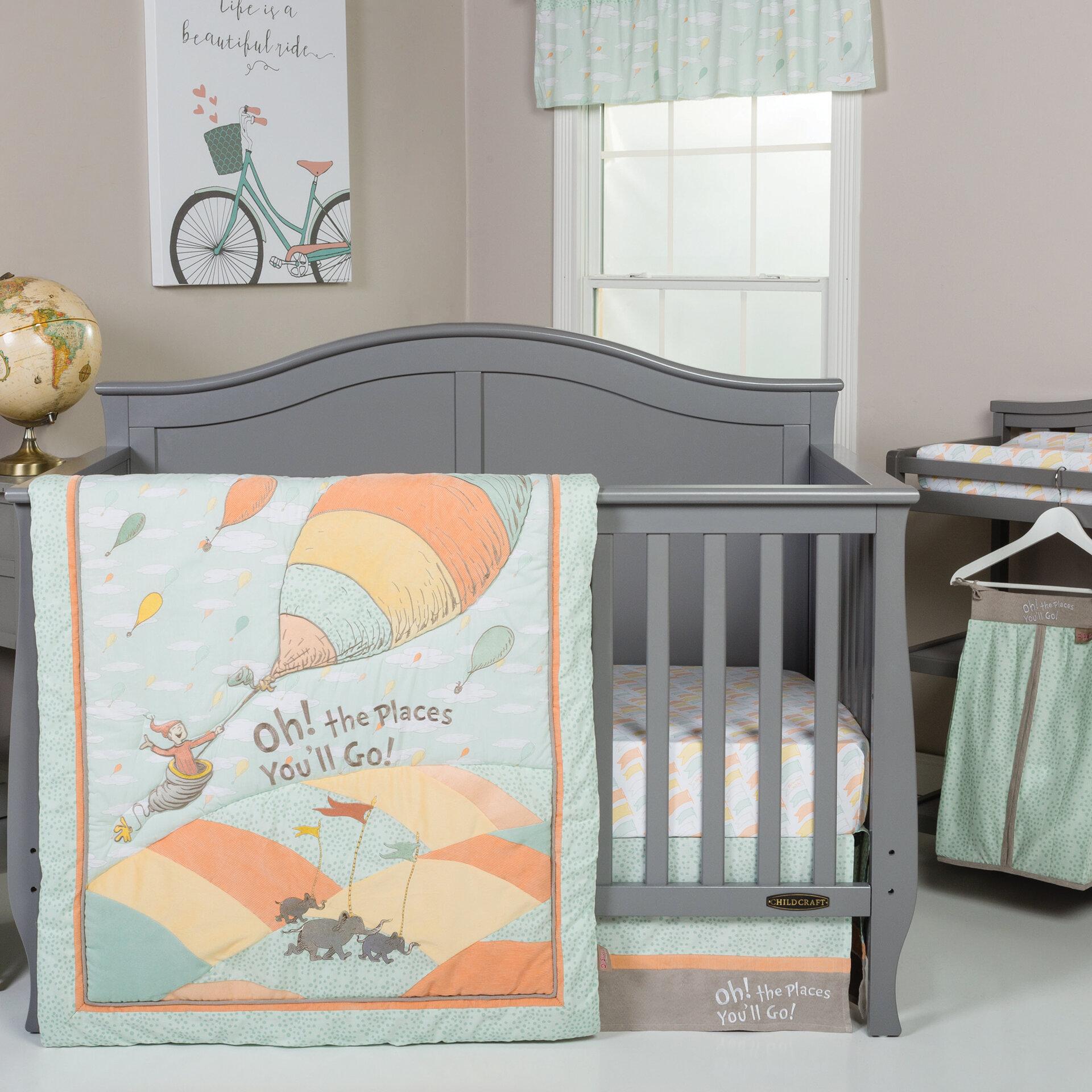 Trend Lab Dr Seuss Oh The Places You Ll Go 5 Piece Crib Bedding Set Reviews Wayfair