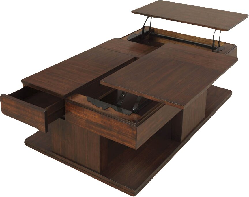Darby Home Co Janene Coffee Table With Double Lift Top Reviews Wayfair
