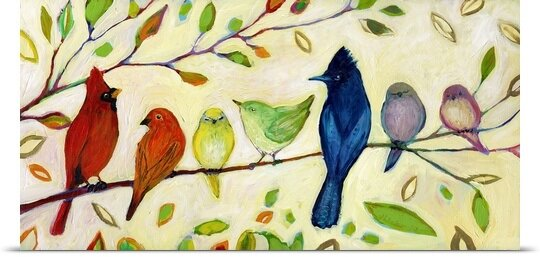 Great Big Canvas A Flock Of Many Colors By Jennifer Lommers