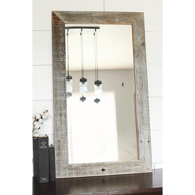 Troche Rustic Homestead Flat Full Length Mirror