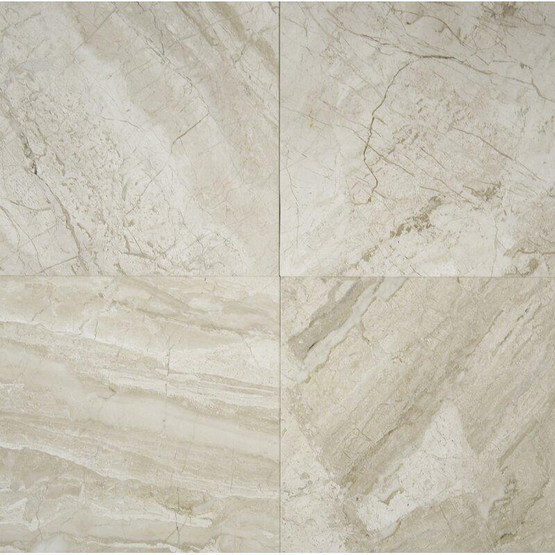Msi New Diana Reale 18 X 18 Marble Field Tile In Beige Wayfair