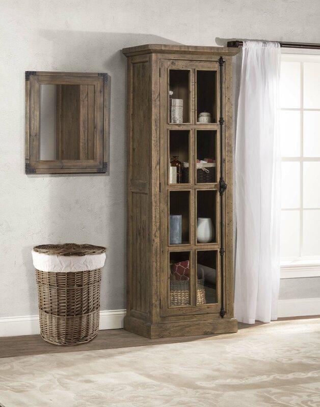 One Allium Way Orner Tall Single Door Accent Cabinet Reviews Wayfair