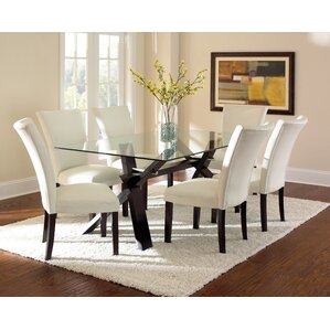 Glass Dining Room Furniture Beauteous Glass Kitchen & Dining Tables You'll Love  Wayfair Review