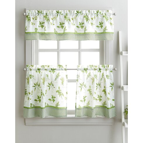Cherelle Herb Graden Kitchen Curtains