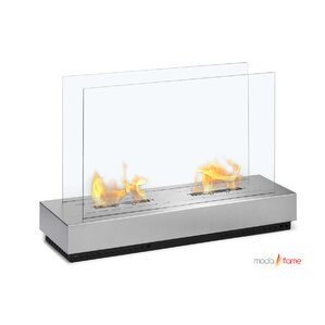 Braga Free Standing Floor Indoor Outdoor Ethanol Fireplace by Moda Flame