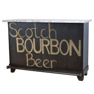 Kingery Bourbon Locking Home Bar with Wine Storage