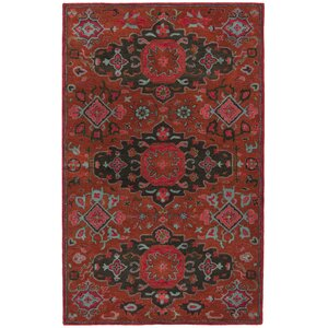Carlsen Hand Tufted Wool Rust Area Rug