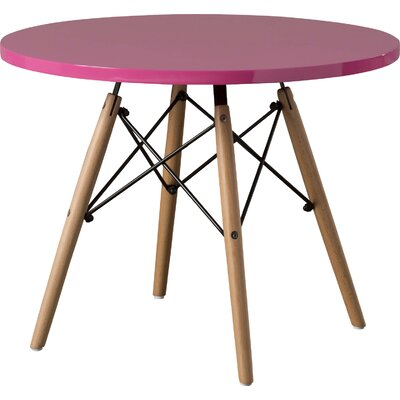 Mack & Milo Hershman Kids Round Writing Table Color: Pink