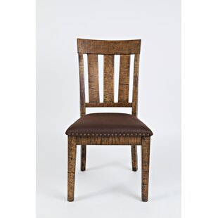 Kody Slatted Back Solid Wood Dining Chair (Set of 2)