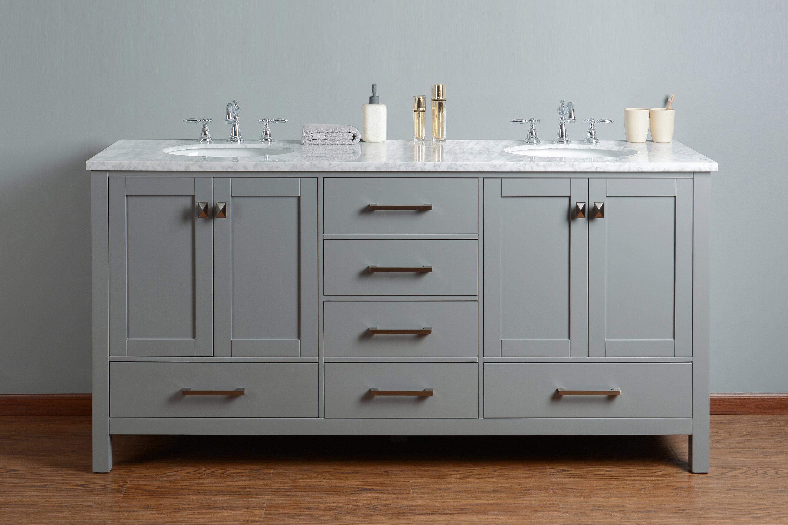 Brayden Studio Ankney 72 Double Sink Bathroom Vanity Set Reviews