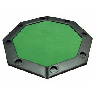 Octagon poker table wayfair padded octagon folding poker table top with cup holders in green watchthetrailerfo