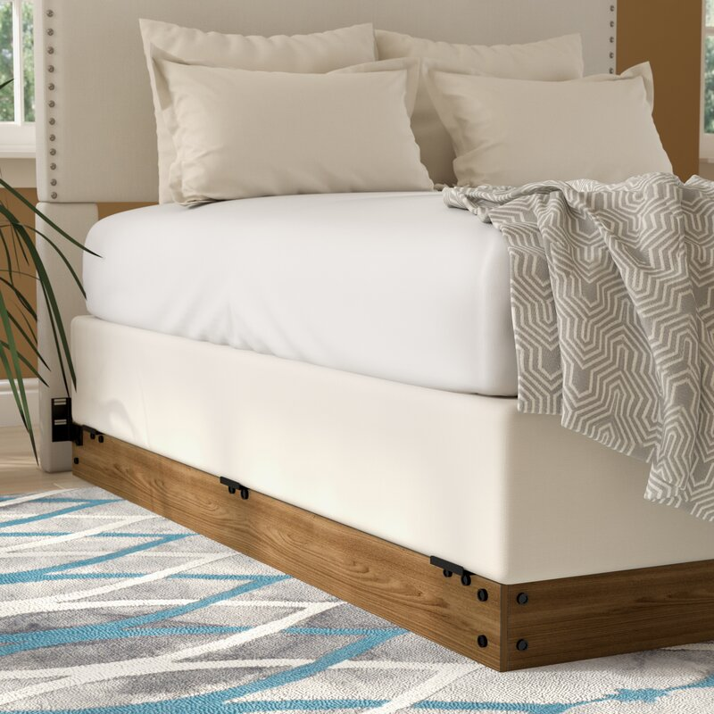 zipcode design winston wood bed frame for box spring reviews. Black Bedroom Furniture Sets. Home Design Ideas