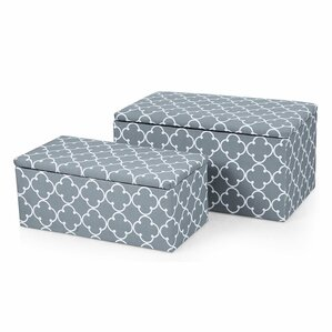 2 Piece Storage Ottoman Set by..