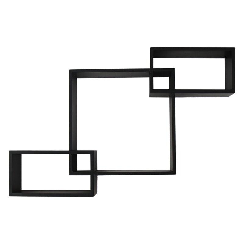Rectangular Square Interlocking Floating Wall Shelf