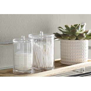Wayfair Basics 2 Compartment Cotton Swab Container