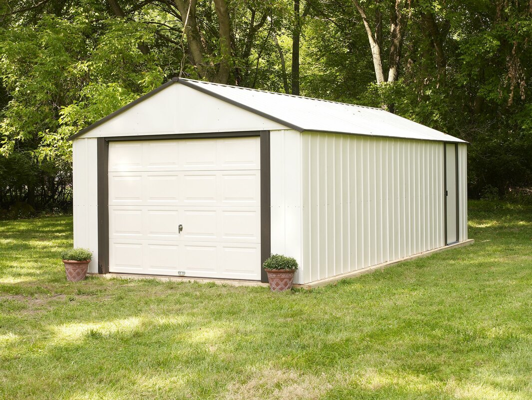 D Metal Garage Shed
