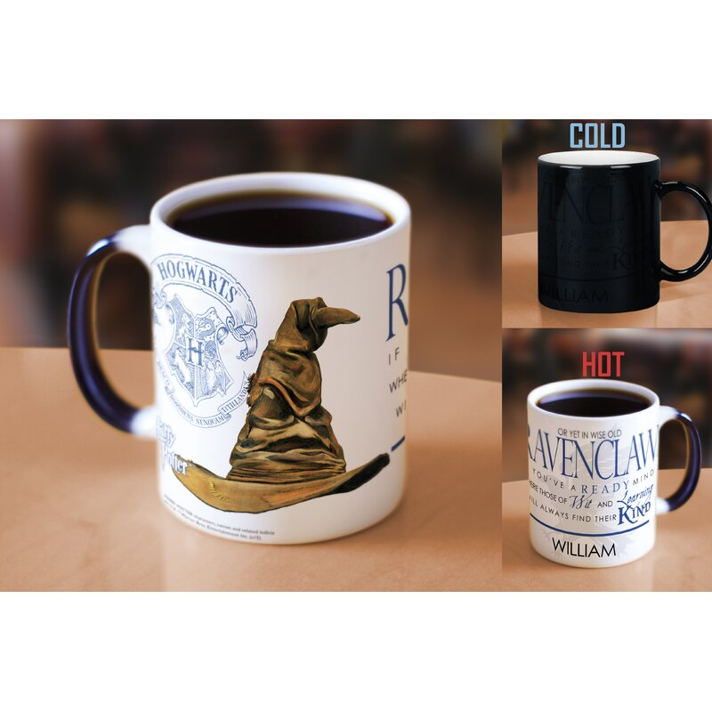 Harry Potter Sorting Hat Ravenclaw Personalized Heat Sensitive Coffee Mug