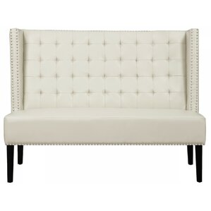 Halifax Faux Leather Banquette Bench