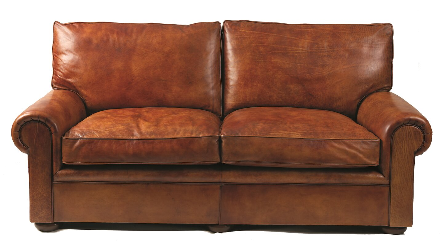 Curzon gallery collection seville leather 2 seater sofa for The sofa company