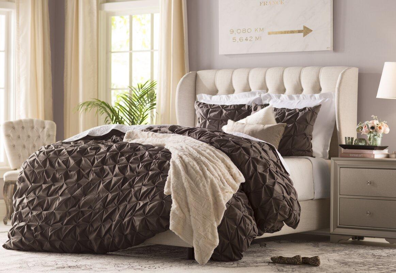 michaela upholstered wingback bed. michaela upholstered wingback bed  reviews  joss  main