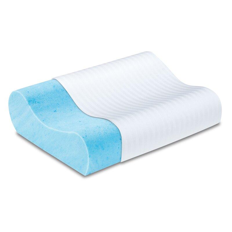 Memory Foam Gel Pillow From Modern Home : Luxury Solutions Gel Memory Foam Contour Pillow & Reviews Wayfair