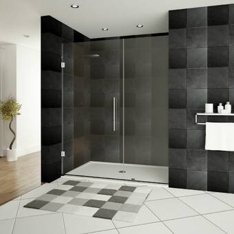 VIGO Soho 28.25'' x 70.63'' Hinged Frameless Shower Door with ... Interior Mobile Home Door X Html on