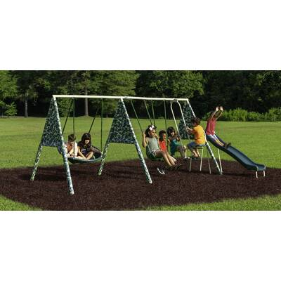 Natus Inc Almansor Trampoline Slide And Swing Set Reviews Wayfair