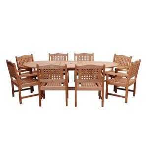 9 Piece Austin Patio Dining SetEight Person Patio Dining Sets   Joss   Main. Outdoor Dining Sets Austin. Home Design Ideas