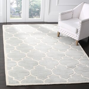 Wilkin Hand-Tufted Gray/Ivory Area Rug