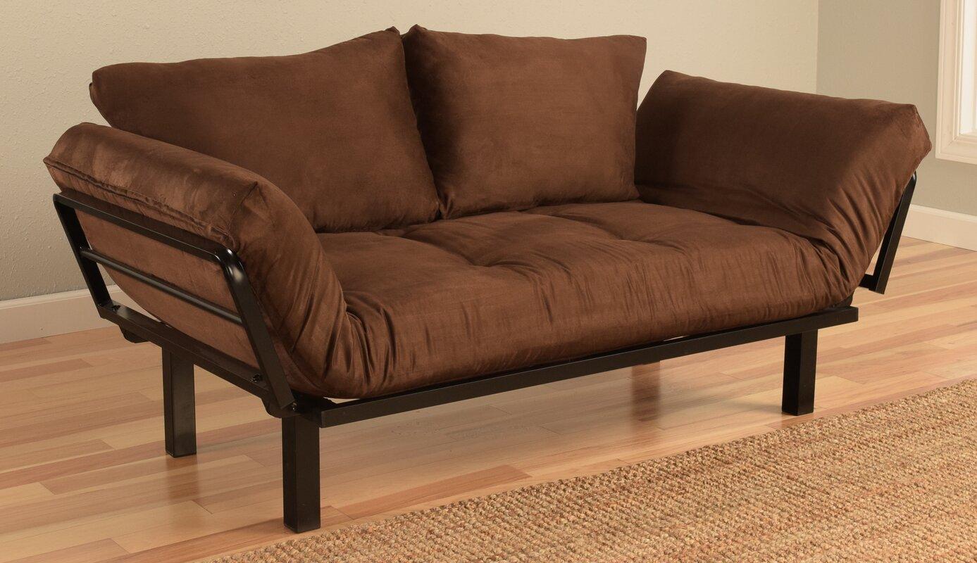 everett convertible futon lounger and mattress ebern designs everett convertible futon lounger and mattress      rh   wayfair