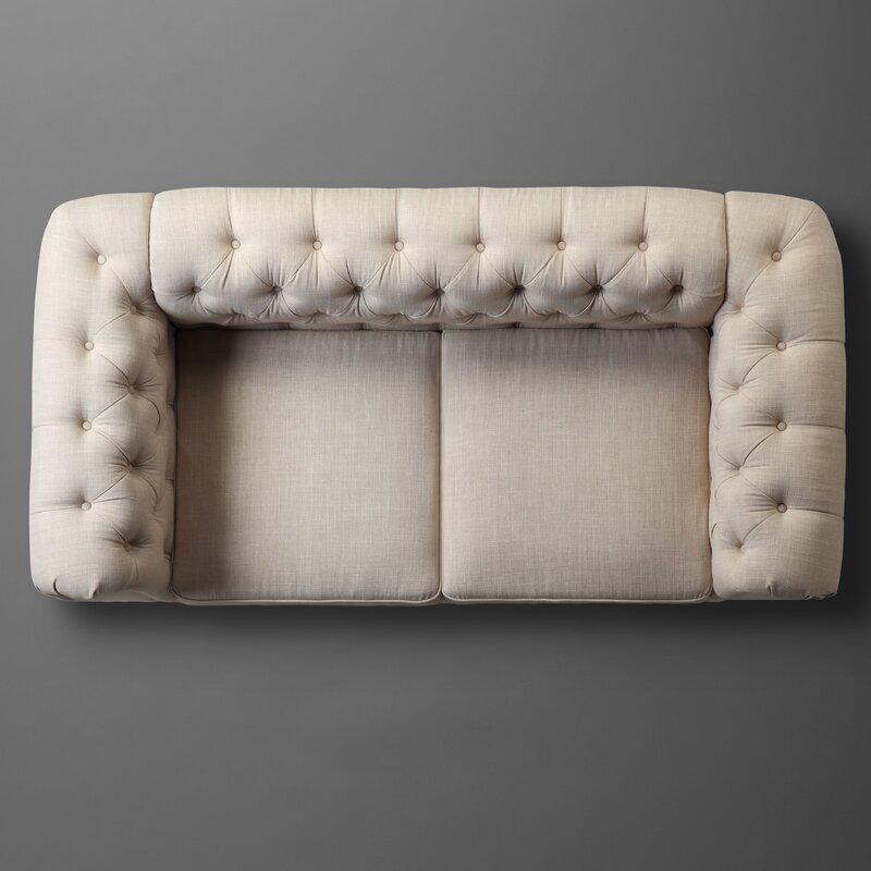 Mulhouse Furniture Garcia Chesterfield Loveseat Amp Reviews Wayfair
