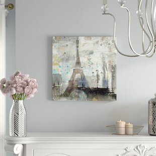 Eiffel Tower Neutral Painting Print On Wrapped Canvas