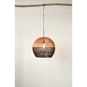 havana round bamboo 1light inverted pendant