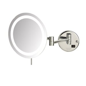 Wall Mounted Makeup Mirror With Lights makeup & shaving mirrors you'll love | wayfair