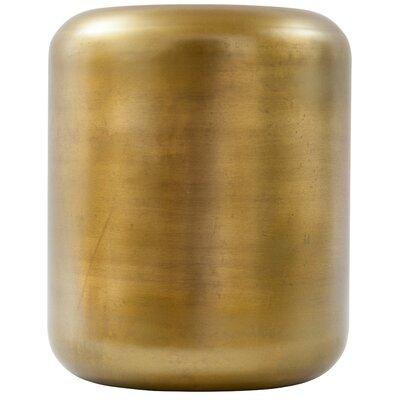 Bloomsbury Market Ohanlon Capsule Accent Stool Color: Antique Brass