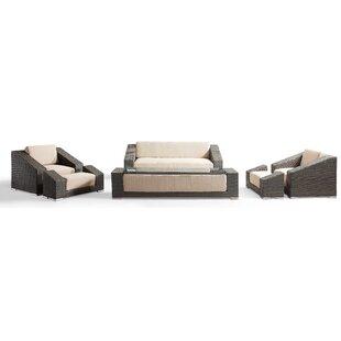 7 Sitzer Lounge Set Grande Terre Aus Polyrattan Mit Polster