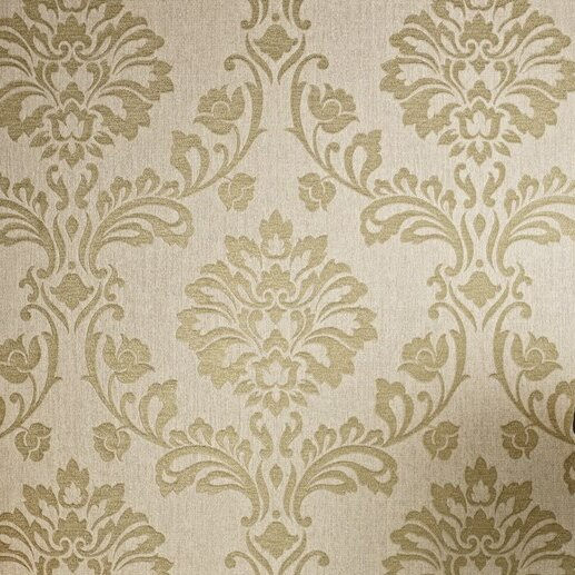 Graham & Brown Aurora Regal 33' x 20'' Damask 3D Embossed Wallpaper Roll