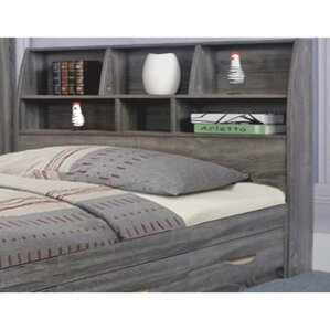 doering elegant bookcase headboard with 6 shelves