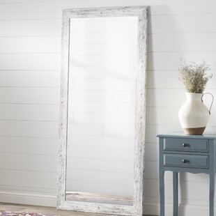 tall standing mirrors. Perfect Tall White Weathered Handcrafted Farmhouse Wall Mirror In Tall Standing Mirrors