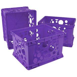 Black Storex Micro Crate 6.75 X5.8 X4.8