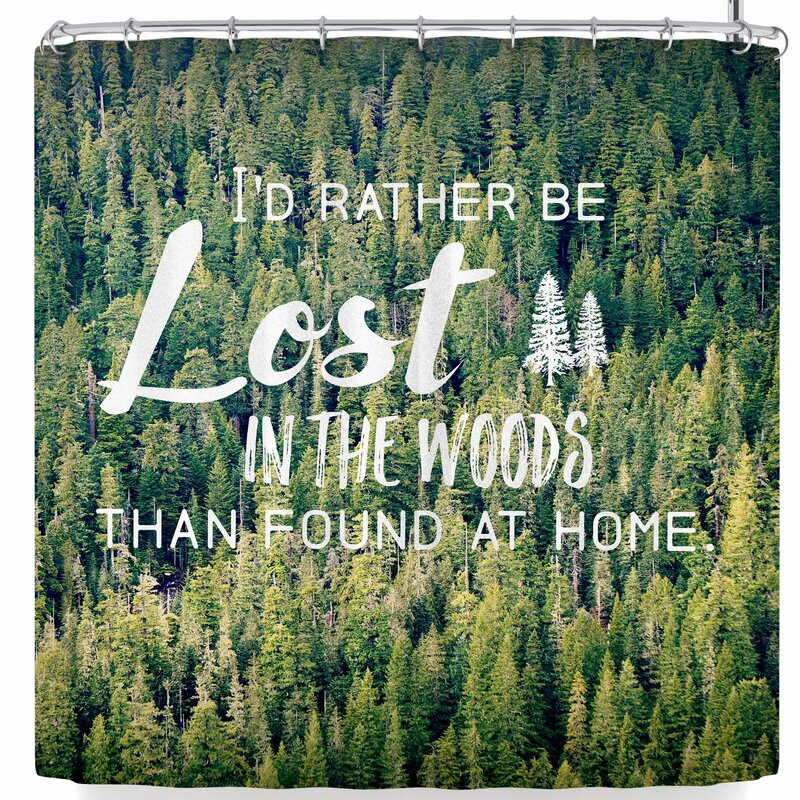 Robin Dickinson Lost In The Woods Shower Curtain