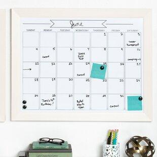 Wood Framed Dry Erase Calendar Wayfair