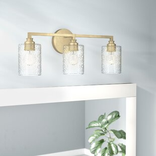 Tera 3 Light Vanity Light With Iced Glass